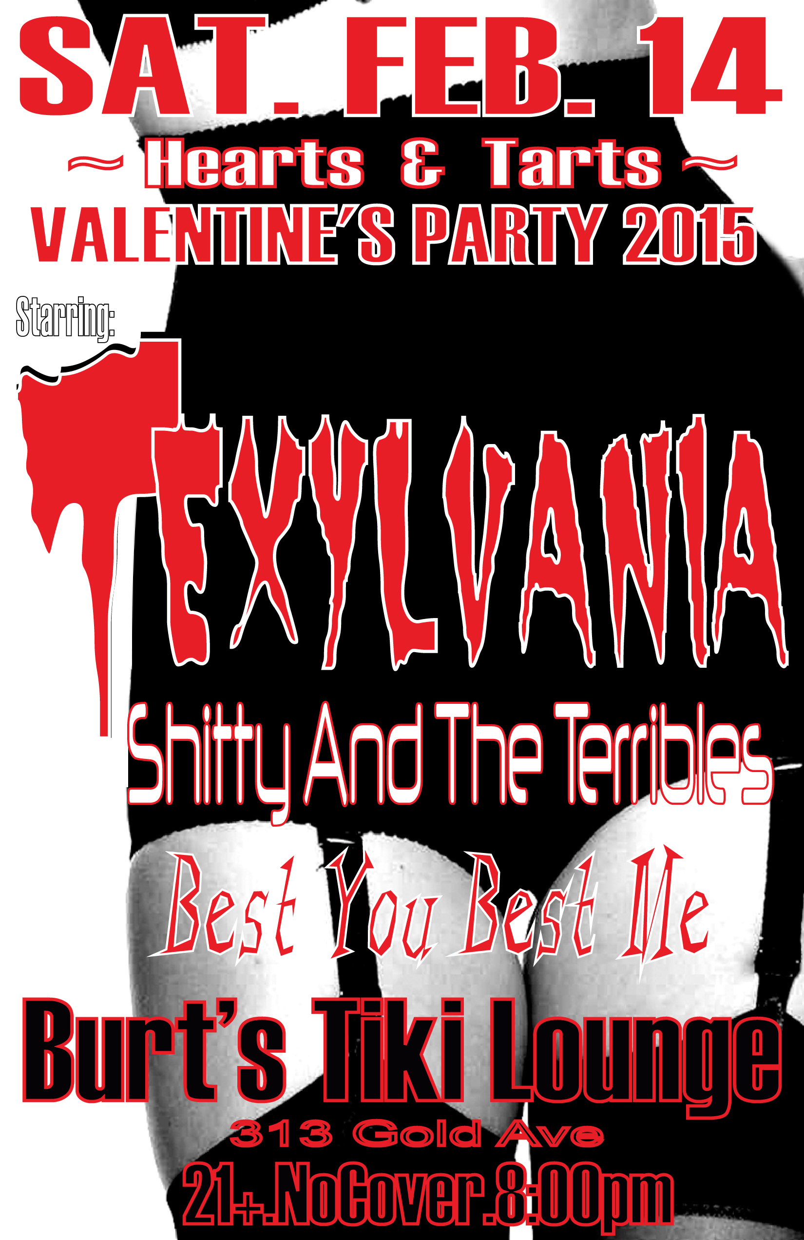 TEXYLVANIA'S 'Hearts&Tarts' V.Day Party 2015