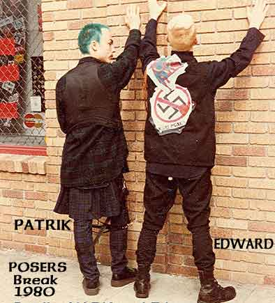 Patrik Mata/Left &  Edward/Right On Their Break At The Original Posers-1980